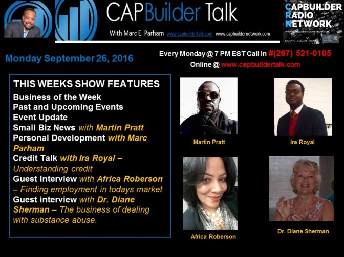 CAPBuilder Talk w/Marc Parham – Discussing Small Business and Our Community