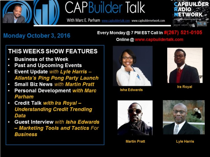 CAPBuilder Talk w/Marc Parham – Small Business, Health and Wellness and Our Community