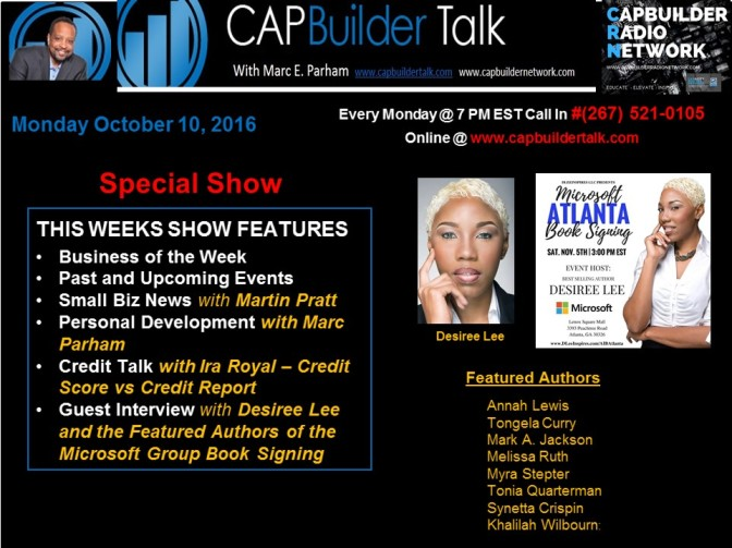 CAPBuilder Talk w/Marc Parham –  Desiree Lee and Featured Authors