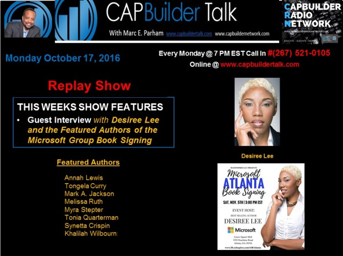 REPLAY SHOW with Desiree Lee and the Authors from the Nov 5th Group Book Signing