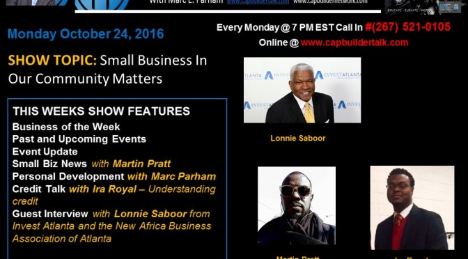 Small Business and Our Community with Lonnie Saboor