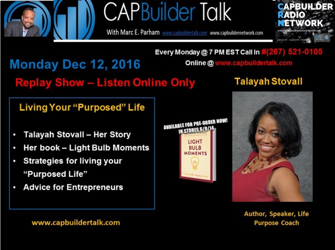 Living Your Purposed Life with Author Talayah Stovall