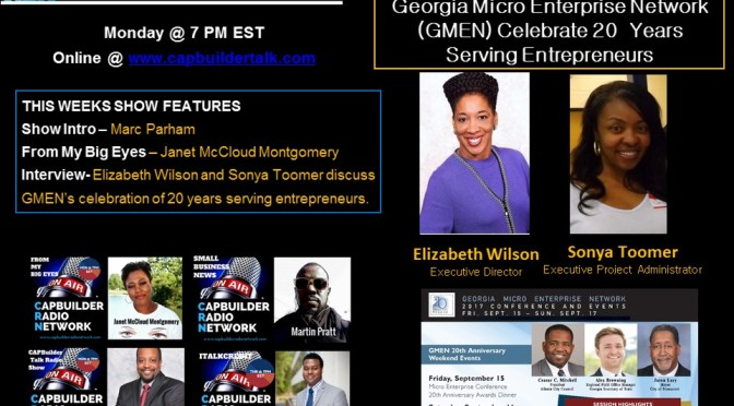 Georgia Micro Enterprise Network (GMEN) Celebrate 20  Years Serving Entrepreneurs